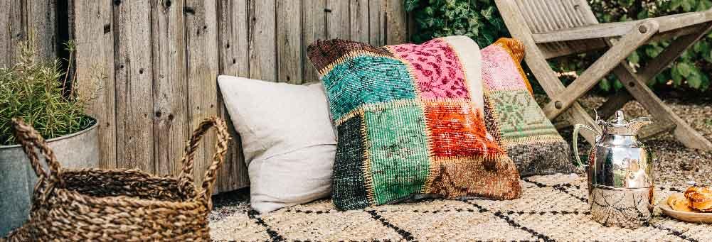 Patchwork-tyynynpäällinen