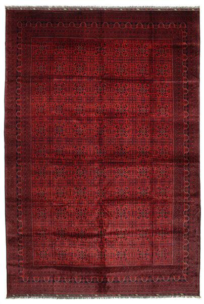 Afghan Khal Mohammadi Matto 406X594 Itämainen Käsinsolmittu Tummanpunainen Isot (Villa, Afganistan)