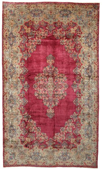 Kerman Matto 328X560 Itämainen Käsinsolmittu Punainen/Vaaleanruskea Isot (Villa, Persia/Iran)
