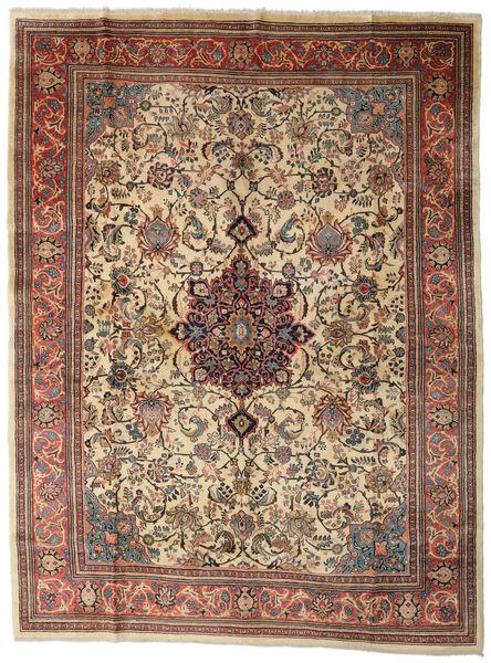 Sarough Matto 280X370 Itämainen Käsinsolmittu Vaaleanruskea/Tummanharmaa Isot (Villa, Persia/Iran)