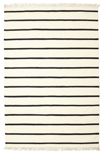 Dorri Stripe - Valkoinen/Musta Matto 190X290 Moderni Käsinkudottu Beige/Valkoinen/Creme (Villa, Intia)