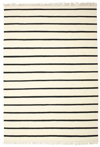 Dorri Stripe - Valkoinen/Musta Matto 220X320 Moderni Käsinkudottu Beige/Valkoinen/Creme (Villa, Intia)