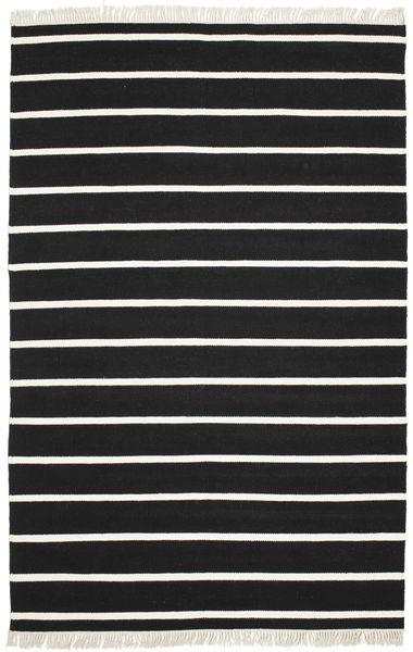 Dorri Stripe - Musta/Valkoinen Matto 190X290 Moderni Käsinkudottu Musta/Beige (Villa, Intia)