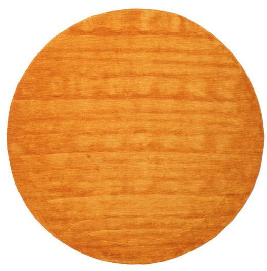 Handloom - Oranssi Matto Ø 200 Moderni Pyöreä Keltainen/Oranssi/Vaaleanruskea (Villa, Intia)