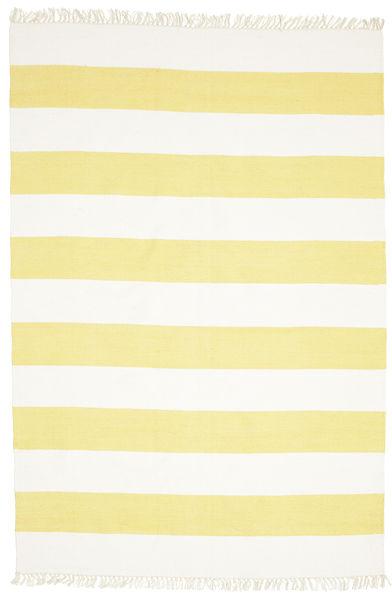 Cotton Stripe - Keltainen Matto 160X230 Moderni Käsinkudottu Keltainen/Beige (Puuvilla, Intia)