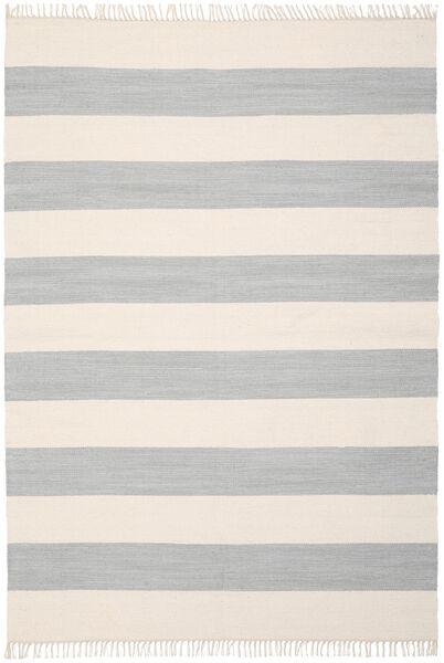 Cotton Stripe - Steel Grey Matto 160X230 Moderni Käsinkudottu Vaaleanharmaa/Beige (Puuvilla, Intia)