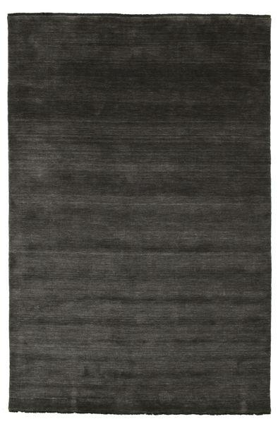 Handloom Fringes - Musta/Harmaa Matto 200X300 Moderni Musta (Villa, Intia)