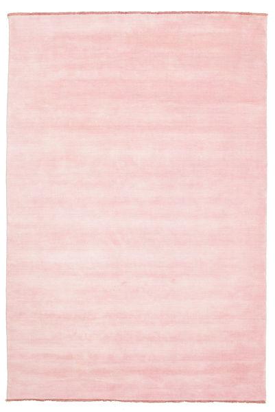 Handloom Fringes - Roosa Matto 200X300 Moderni Vaaleanpunainen (Villa, Intia)