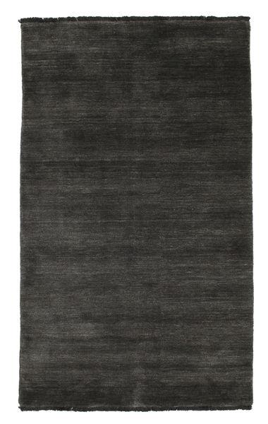 Handloom Fringes - Musta/Harmaa Matto 100X160 Moderni Musta/Tummanharmaa (Villa, Intia)