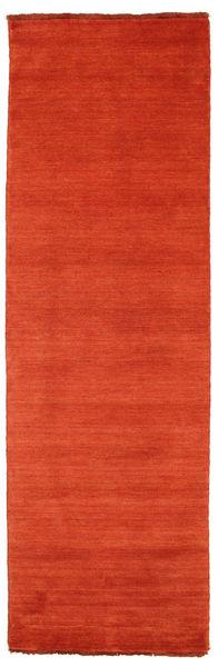 Handloom Fringes - Ruoste/Punainen Matto 80X250 Moderni Käytävämatto Ruoste/Oranssi (Villa, Intia)