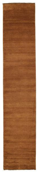 Handloom Fringes - Ruskea Matto 0X0 Moderni Käytävämatto Ruskea (Villa, Intia)