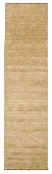 Handloom Fringes - Beige Matto 80X300 Moderni Käytävämatto Tummanbeige/Vaaleanruskea (Villa, Intia)