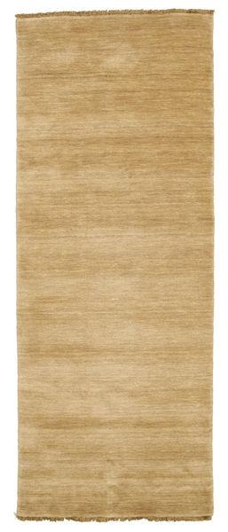 Handloom Fringes - Beige Matto 80X200 Moderni Käytävämatto Tummanbeige/Vaaleanruskea (Villa, Intia)