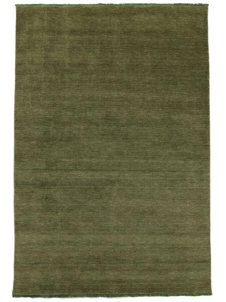 Handloom Fringes - Vihreä Matto 300X400 Moderni Oliivinvihreä Isot (Villa, Intia)
