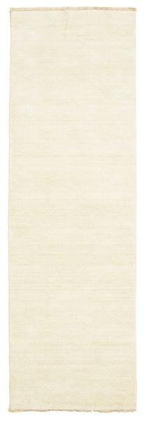 Handloom Fringes - Vaalea Matto 80X250 Moderni Käytävämatto Beige (Villa, Intia)