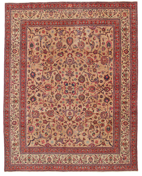 Mashad Patina Allekirjoitettu: Amoghli Matto 287X370 Itämainen Käsinsolmittu Ruoste/Tummanpunainen Isot (Villa, Persia/Iran)