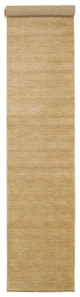 Handloom Fringes - Beige Matto 80X400 Moderni Käytävämatto Tummanbeige/Vaaleanruskea (Villa, Intia)