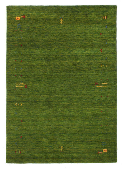 Gabbeh Loom Frame - Vihreä Matto 140X200 Moderni Tummanvihreä (Villa, Intia)