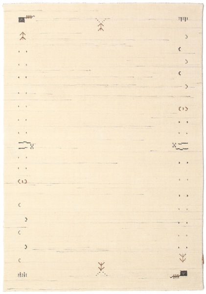 Gabbeh Loom Frame - Valkea Matto 140X200 Moderni Beige/Tummanbeige (Villa, Intia)