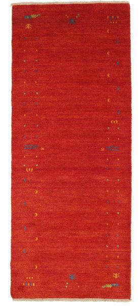Gabbeh Loom Frame - Punainen Matto 80X200 Moderni Käytävämatto Tummanpunainen (Villa, Intia)