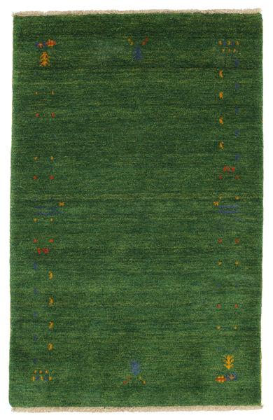 Gabbeh Loom Frame - Vihreä Matto 100X160 Moderni Tummanvihreä/Tummanvihreä (Villa, Intia)