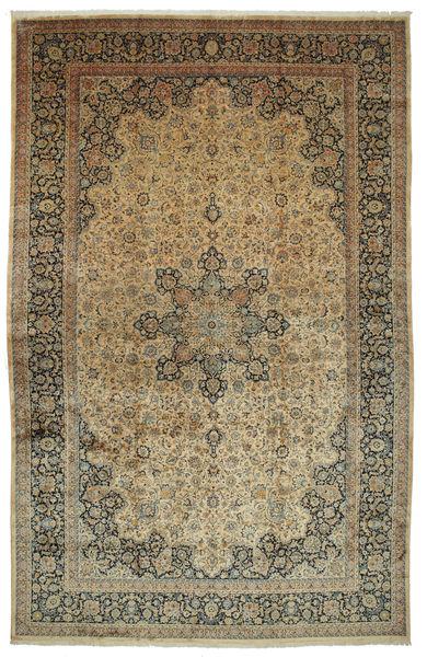 Mashad Astan Ghods Matto 508X789 Itämainen Käsinsolmittu Vaaleanruskea/Tummanharmaa Isot (Villa, Persia/Iran)