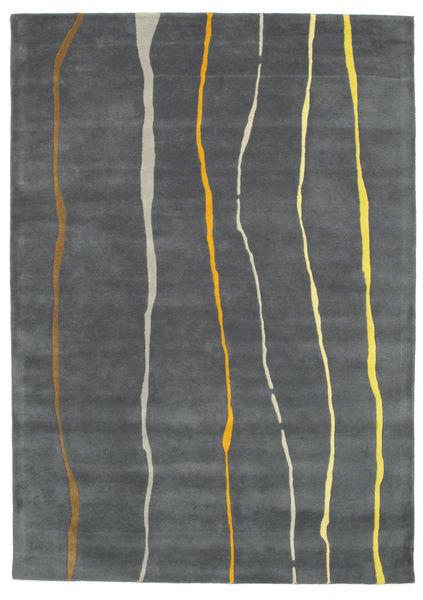 Flaws Handtufted - Harmaa Matto 160X230 Moderni Tummanharmaa/Vaaleanharmaa (Villa, Intia)