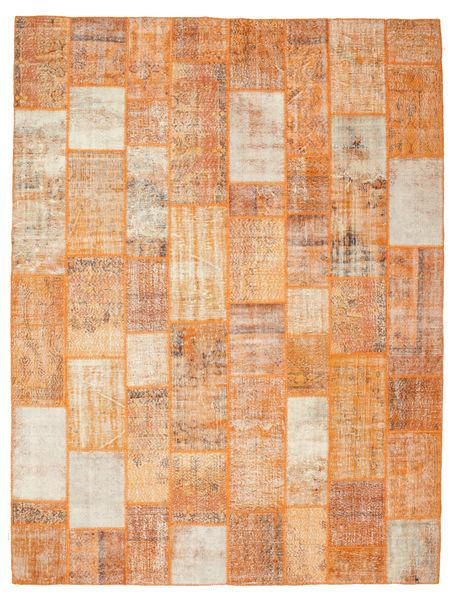 Patchwork Matto 301X399 Moderni Käsinsolmittu Vaaleanruskea/Vaaleanpunainen Isot (Villa, Turkki)