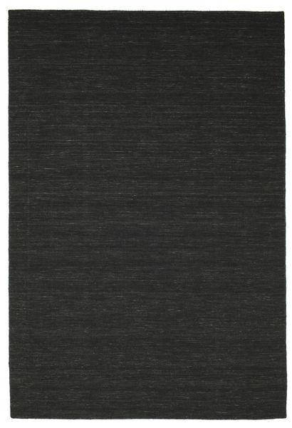 Kelim Loom - Musta Matto 200X300 Moderni Käsinkudottu Musta (Villa, Intia)