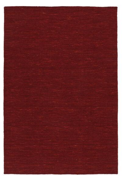 Kelim Loom - Tummanpunainen Matto 200X300 Moderni Käsinkudottu Punainen (Villa, Intia)
