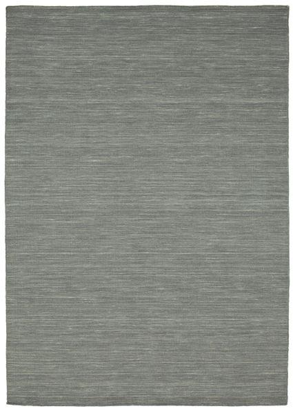 Kelim Loom - Tummanharmaa Matto 160X230 Moderni Käsinkudottu Vaaleanharmaa/Tummanvihreä (Villa, Intia)