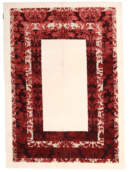 Himalaya Matto 150X210 Moderni Käsinsolmittu Beige/Tummanpunainen ( Intia)