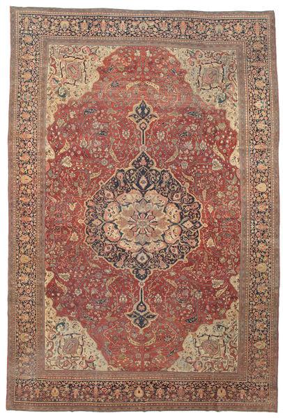 Farahan Matto 368X550 Itämainen Käsinsolmittu Tummanpunainen/Ruskea Isot (Villa, Persia/Iran)