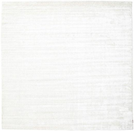 Bamboo Silkki Loom - Vaalea Natural Matto 300X300 Moderni Neliö Beige/Valkoinen/Creme Isot ( Intia)
