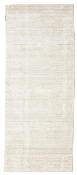 Bamboo Silkki Loom - Vaalea Natural Matto 80X200 Moderni Käytävämatto Tummanbeige/Vaaleanharmaa/Beige ( Intia)