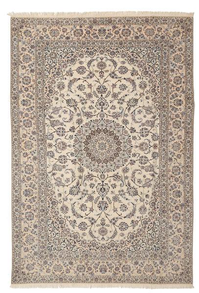 Nain 6La Habibian Matto 205X312 Itämainen Käsinsolmittu Vaaleanharmaa/Beige (Villa/Silkki, Persia/Iran)