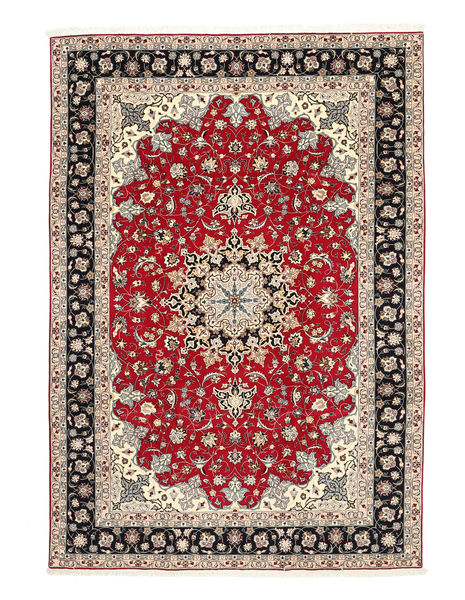Tabriz 50 Raj Silkkiloimi Matto 200X310 Itämainen Käsinsolmittu Vaaleanharmaa/Tummanharmaa (Villa/Silkki, Persia/Iran)