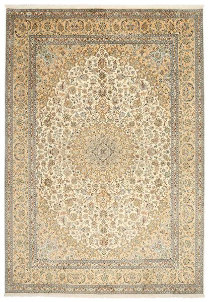 Kashmir 100% Silkki Matto 217X315 Itämainen Käsinsolmittu Tummanbeige/Vaaleanruskea (Silkki, Intia)