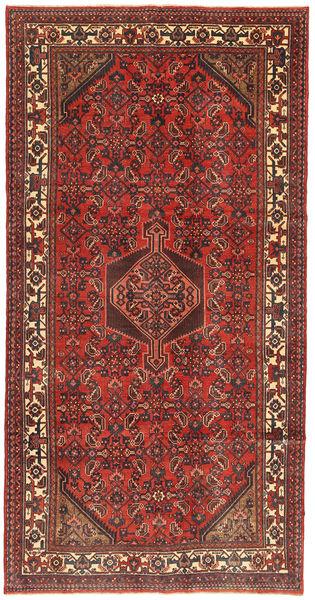 Hamadan Patina Matto 158X310 Itämainen Käsinsolmittu Tummanpunainen/Ruoste (Villa, Persia/Iran)