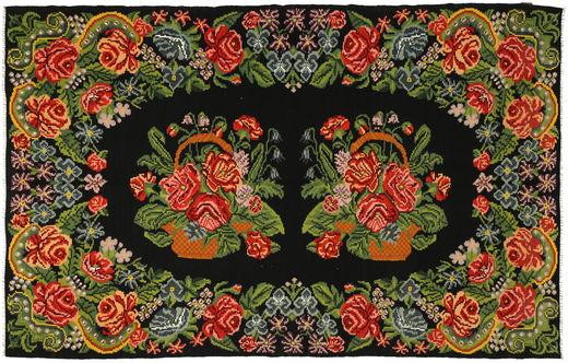 Ruusukelim Matto 191X304 Itämainen Käsinkudottu Tummanvihreä/Oliivinvihreä (Villa, Moldova)