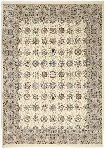 Ilam Sherkat Farsh Silkki Matto 250X350 Itämainen Käsinsolmittu Vaaleanharmaa/Beige Isot (Villa/Silkki, Persia/Iran)