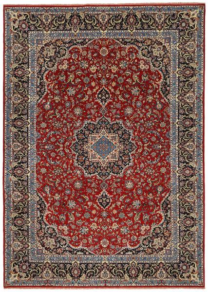 Ilam Sherkat Farsh Silkki Matto 245X350 Itämainen Käsinsolmittu Tummanpunainen/Tummanruskea/Tummanharmaa (Villa/Silkki, Persia/Iran)