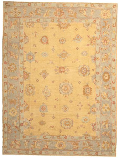 Usak Matto 288X382 Itämainen Käsinsolmittu Tummanbeige/Vaaleanruskea Isot (Villa, Turkki)