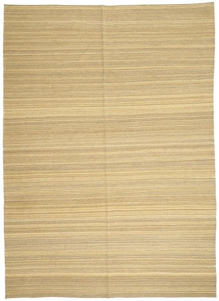 Kelim Moderni Matto 206X287 Moderni Käsinkudottu Tummanbeige/Beige (Villa, Afganistan)