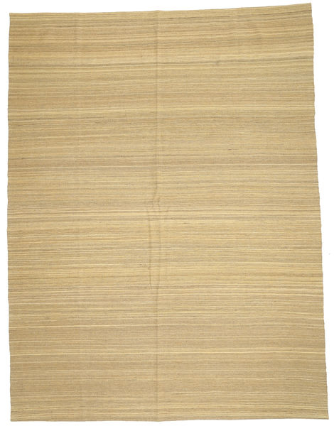 Kelim Moderni Matto 212X280 Moderni Käsinkudottu Tummanbeige/Keltainen (Villa, Afganistan)