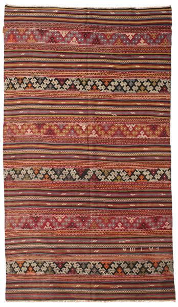 Kelim Semiantiikki Turkki Matto 166X290 Itämainen Käsinkudottu Tummanpunainen/Vaaleanruskea (Villa, Turkki)