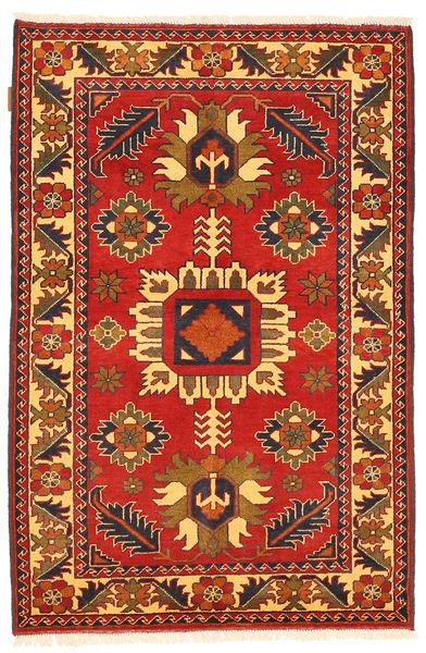 Kazak Matto 101X158 Itämainen Käsinsolmittu Ruoste/Tummanruskea (Villa, Pakistan)