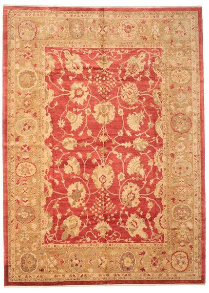 Usak Matto 281X388 Itämainen Käsinsolmittu Vaaleanruskea/Punainen Isot (Villa, Turkki)
