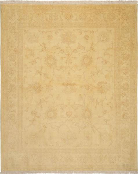 Tabriz 50 Raj Silkillä Matto 205X252 Itämainen Käsinsolmittu Tummanbeige/Vaaleanruskea (Villa/Silkki, Persia/Iran)