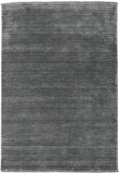 Handloom Fringes - Tummanharmaa Matto 160X230 Moderni Tummanharmaa (Villa, Intia)
